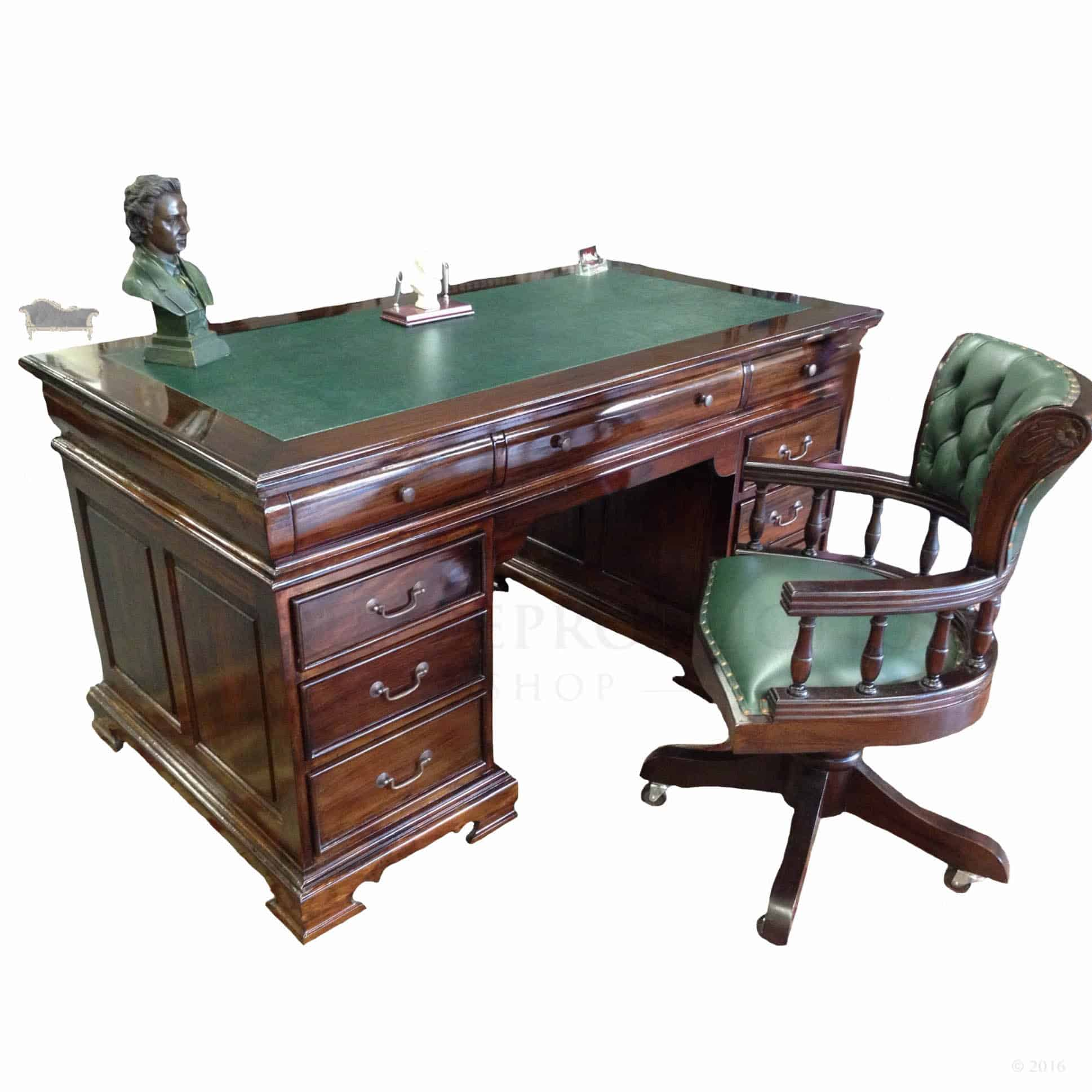 Lombardo Office Writing Desk 150cm with matching Captains