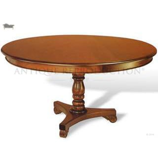 Reproduction Round Dining Table Victorian Antique