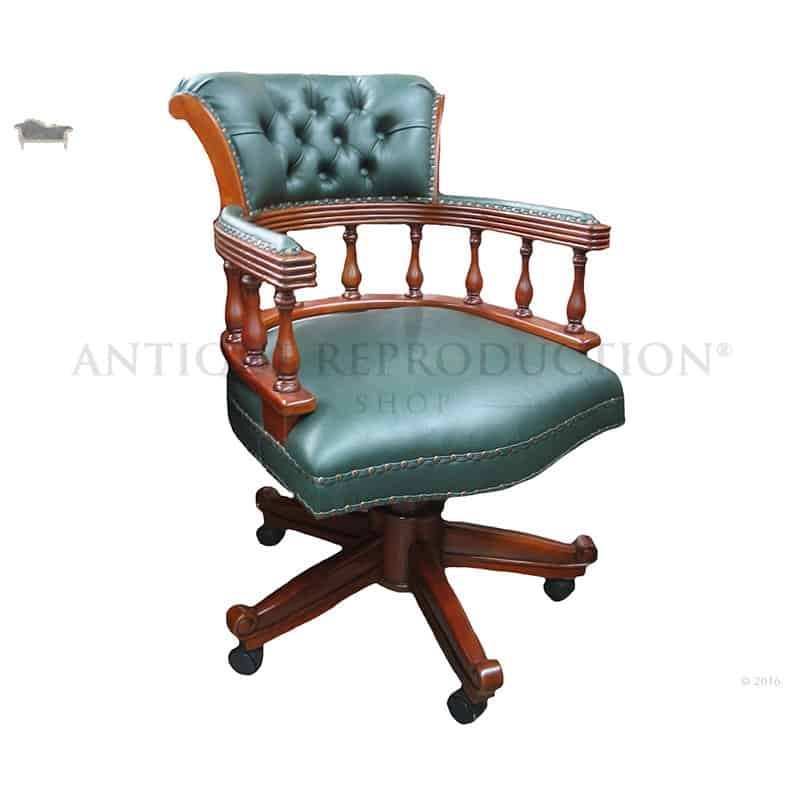 Traditional Captains Office Chair Large Antique