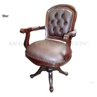 Victorian Office Chair Antique Reproduction - Antique ...