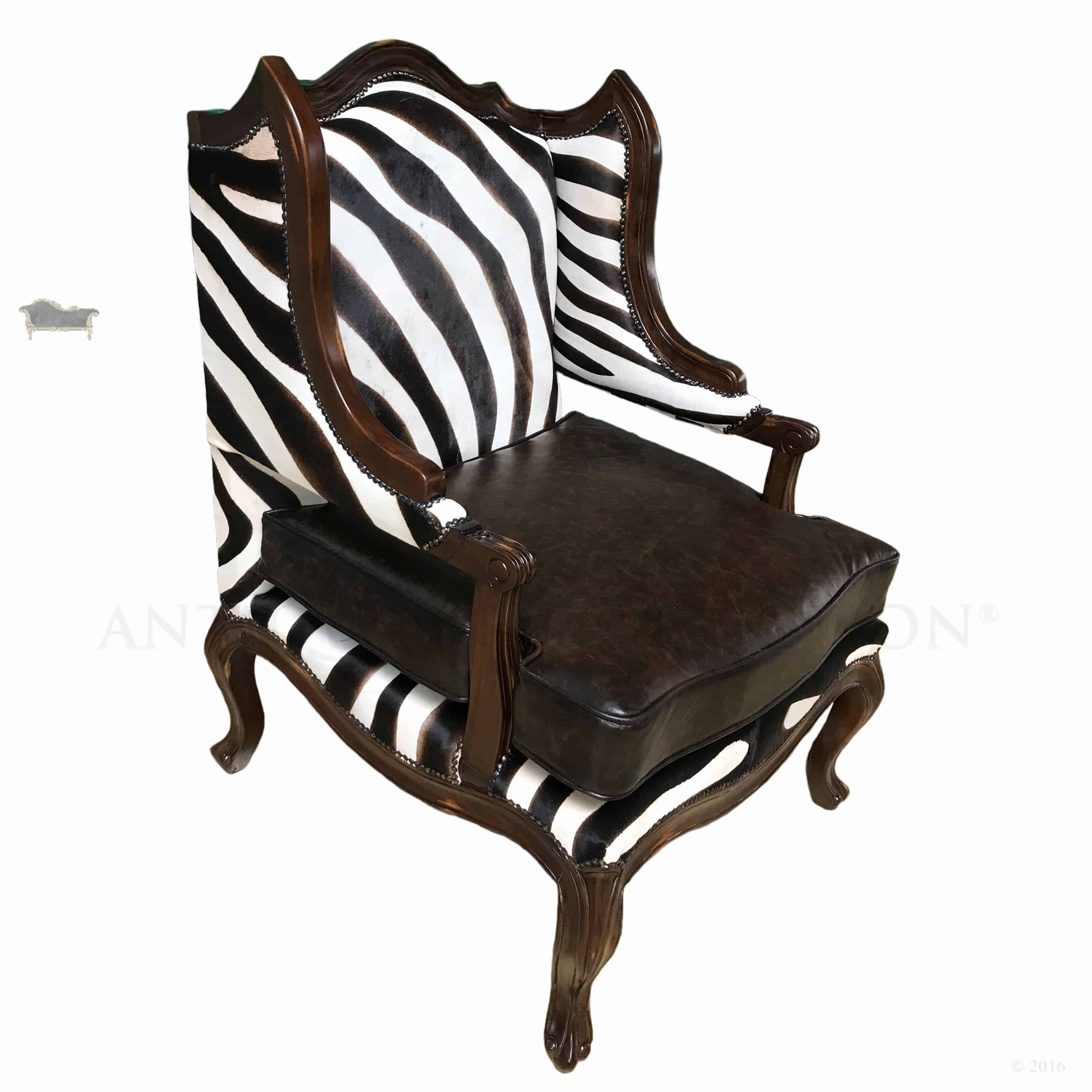 zebra print chairs for sale bent and brothers georgian leather wing chair antique