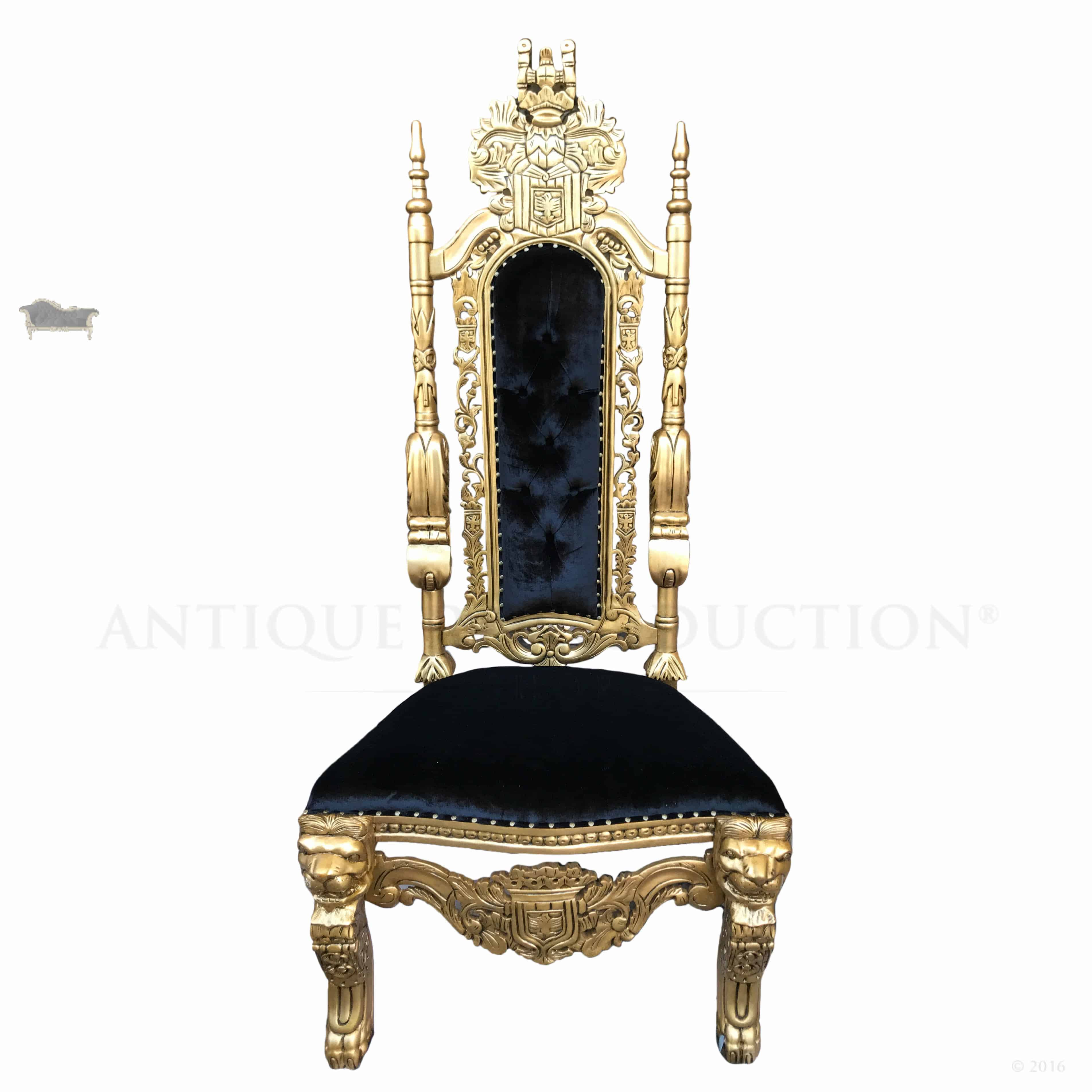 black throne chair mars sale with antique gold lion king