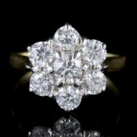 Diamond Daisy Ring 18ct Gold Engagement Ring