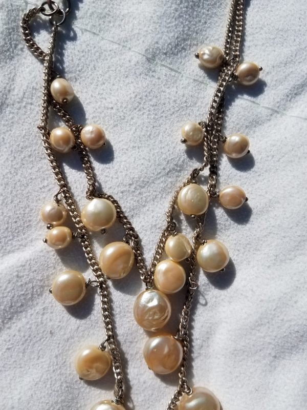 Monet Pearl Necklace Antiques Board