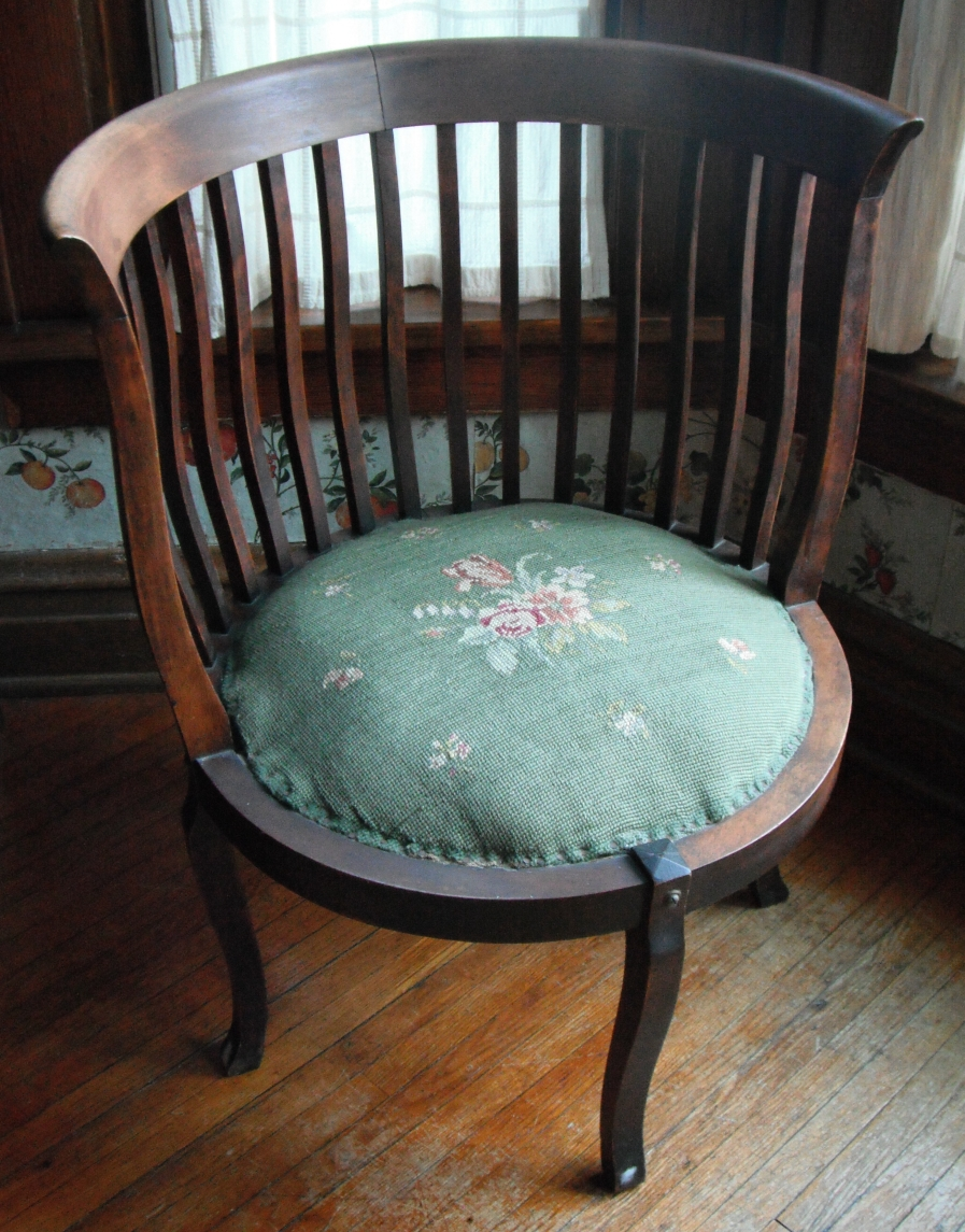 wooden corner chair rocking and stool unusual antique style age etc help on this round jpg