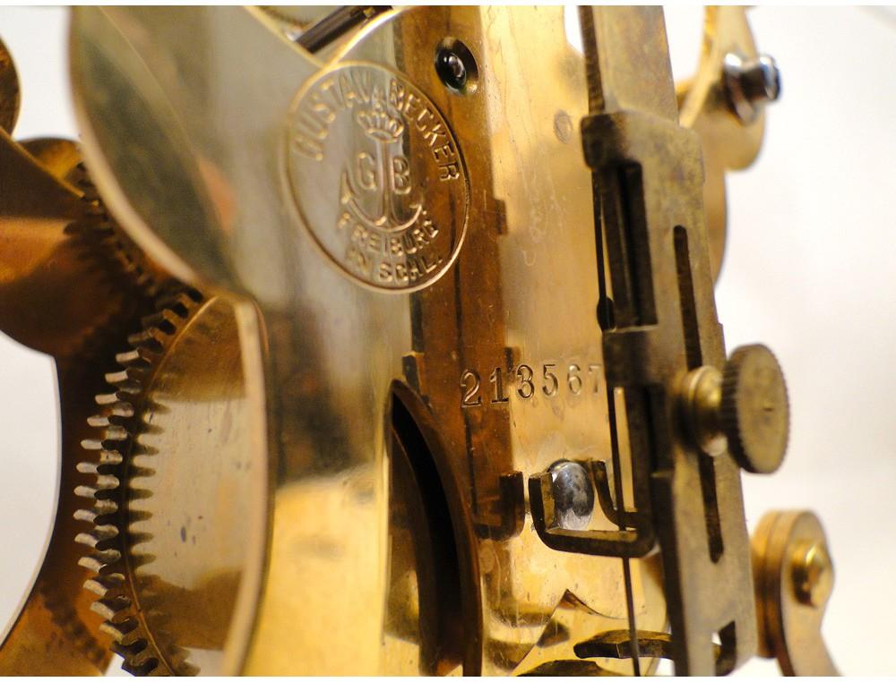 Gustav Becker Clock 400 Days 19th