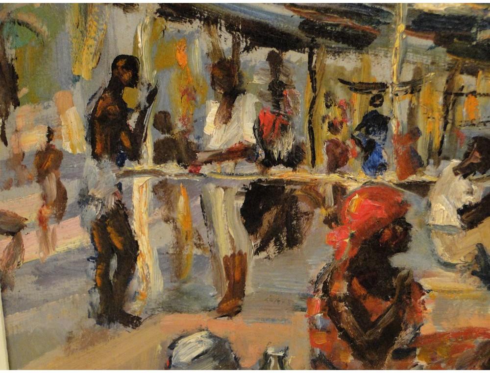 HSP Painting Scene Market Africa Rwanda Andr Hallet 20th
