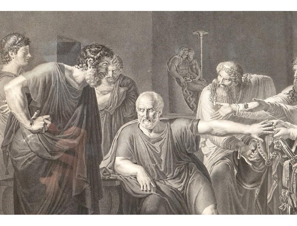 Gravure Hippocrate refusant prsents Artaxercs mdecine