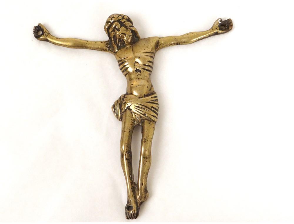 Christ crucifix bronze dor croix XVIme sicle