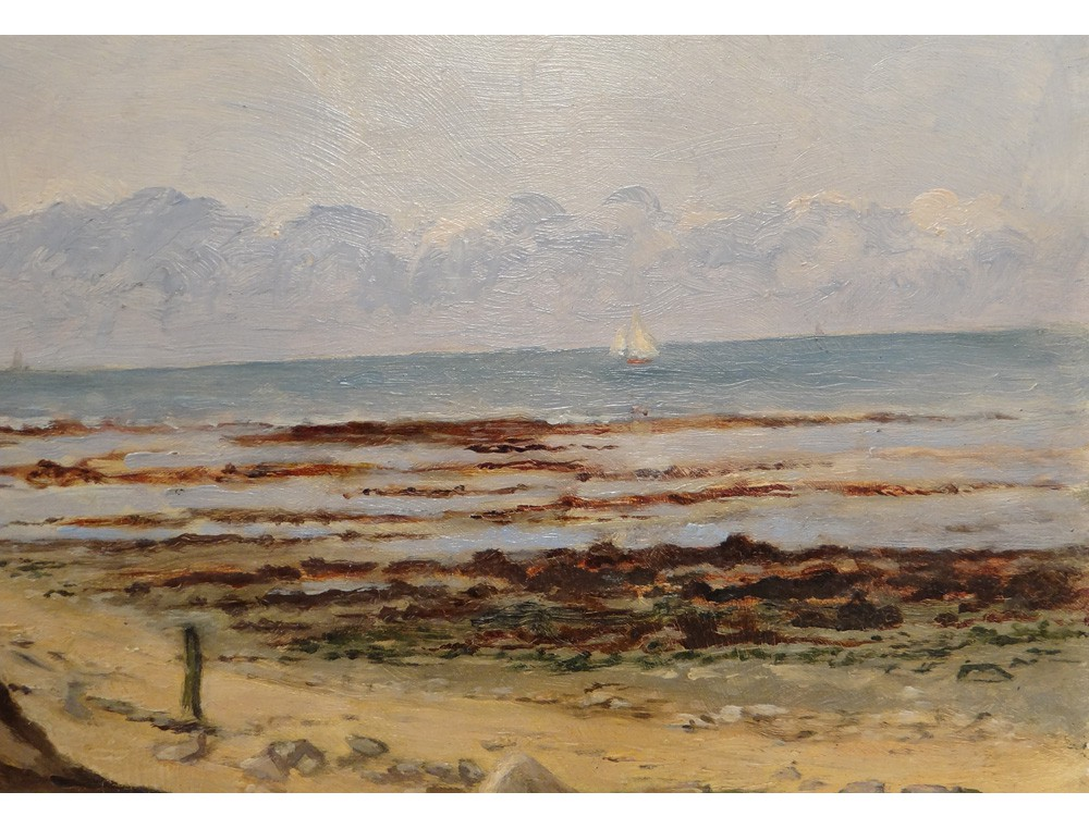 HSP tableau paysage marine bord de mer Normandie plage