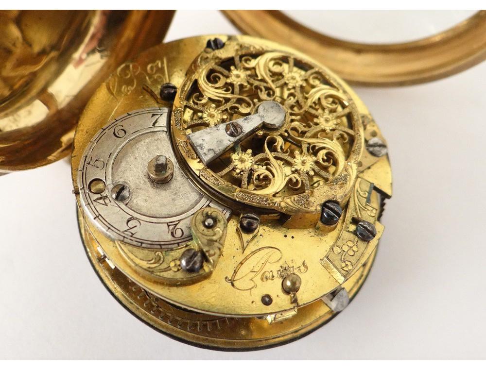 18 carats horloger leroy gold watch