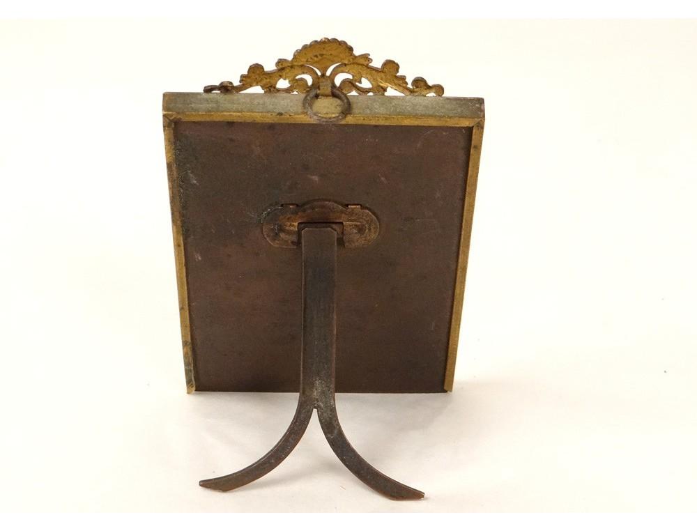 Petit cadre portephoto bronze dor coquilles frame