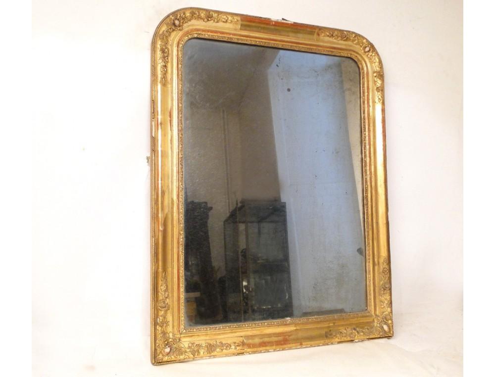 miroir napoleon iii cadre dore 19e