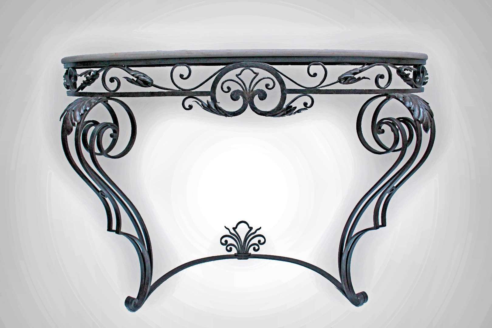 console table signed p roze galerie