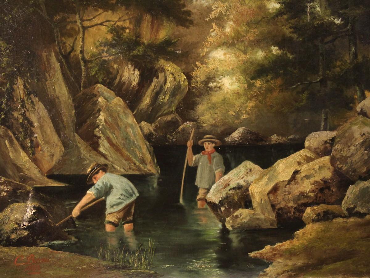 Paesaggi e marine nei dipinti dellOttocento