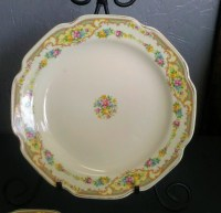 Floral Plate set, White china, Mt Clemens China, China ...