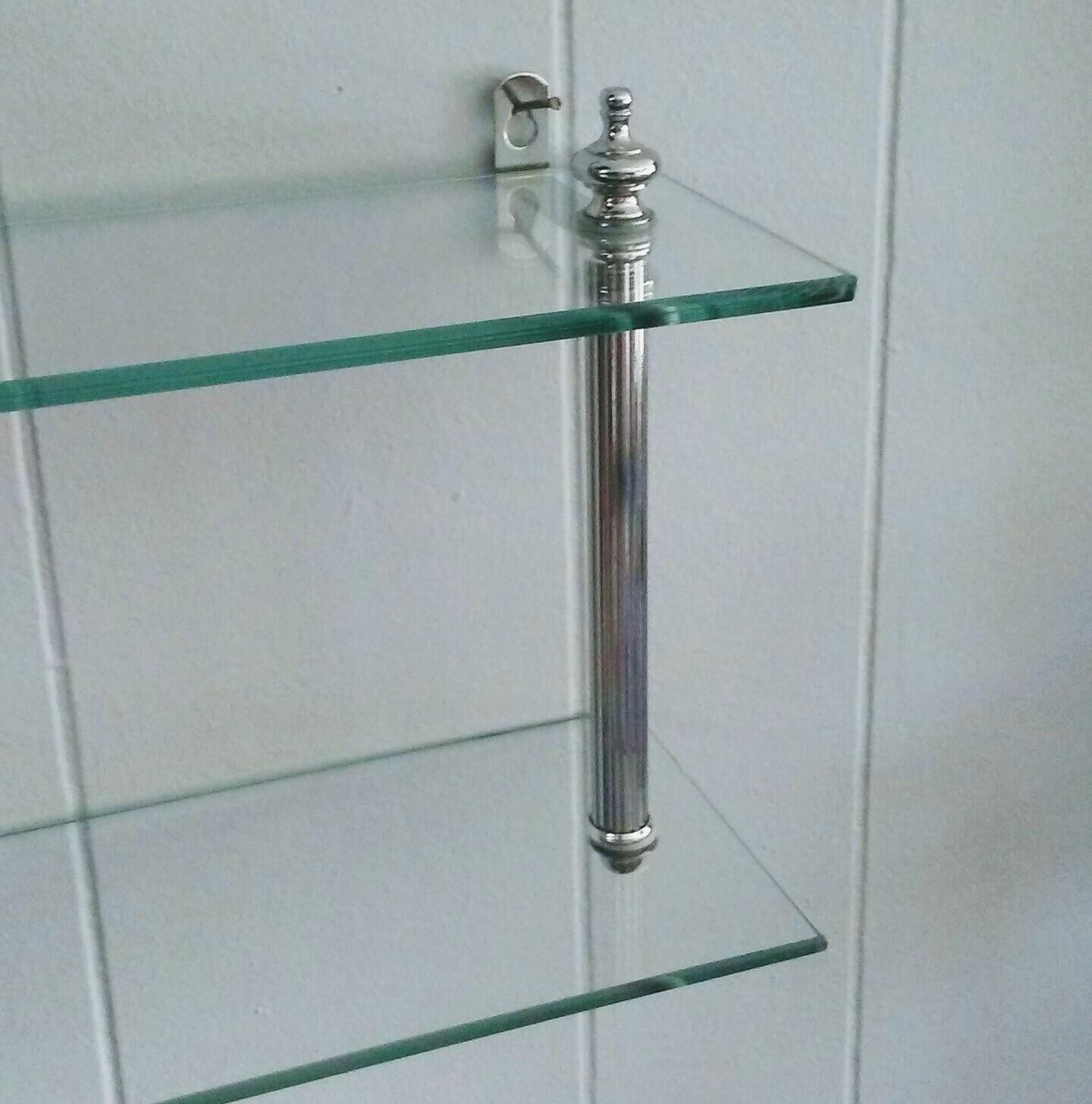 Chrome Glass Shelf Wall Shelf Small Glass Shelf