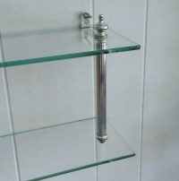 Chrome Glass Shelf, Wall Shelf, Small Glass Shelf