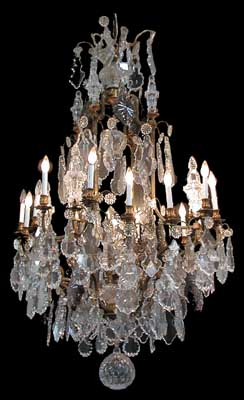 96 52 Cm Country Of Origin France Style Baccarat Condition Red Year C 1880 Description Beautiful 19th Century Crystal Chandelier With