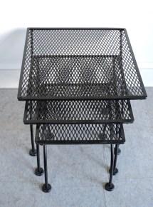 Salterini Mid Century Modern Wrought Iron Patio Nesting
