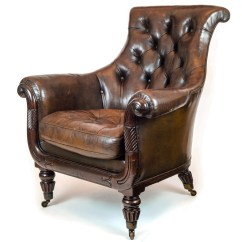 Bernhardt London Club Leather Sofa Price Apt Size Sectionals English Regency Gillows Tufted Brown Overscale