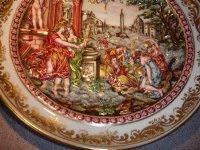 Capodimonte Figural Charger Greek Scene in Relief For Sale ...