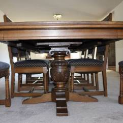 Antique Oak Dining Chairs Ghost South Africa 1928 Carved Spanish Gothic Period Suite For Sale | Antiques.com Classifieds
