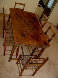 PRIMITIVE KITCHEN TABLE ( Canadian pine wood furniture ...