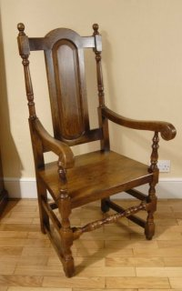 8 ENGLISH RUSTIC WILLIAM MARY DINING CHAIRS GOTHIC FARM ...