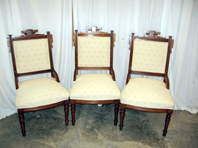 eastlake victorian parlor chairs gold chair covers ebay 3 extra nice 1800 s for sale