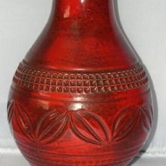 Nautical Kitchen Hardware Modern Corner Table Vintage Eames Era European Red Flambe Art Pottery Vase For ...