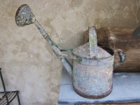 French Watering Can with Traces of Old Paint For Sale