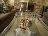 Vintage Lamplight Farms Kerosene Lamp Clear Glass Base For ...