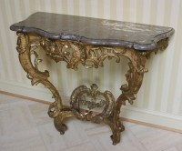 French, 18th century, Louis XV period console table For