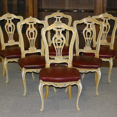 Tall Back Dining Chairs Charles Rennie Mackintosh Willow Chair Set Of Six Venetian Louis Xv Style