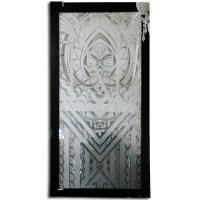 Art Deco Etched Glass Window For Sale | Antiques.com ...