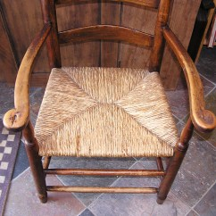 Antique Ladder Back Chairs With Rush Seats Chair Covers Macys Massachusetts Shaker Style Seated Arm