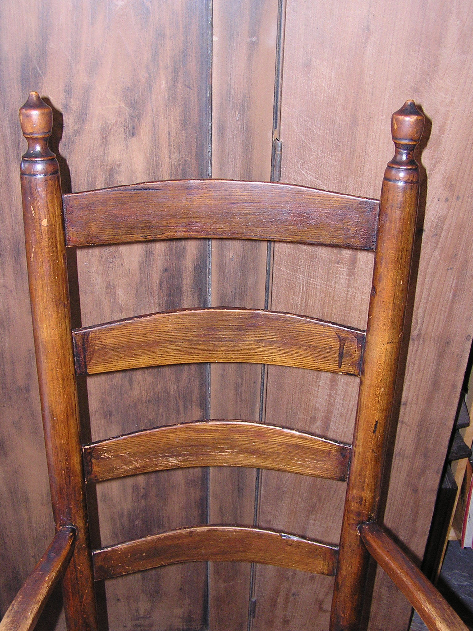 antique ladder back chairs value wicker wingback chair cushions massachusetts shaker style rush seated arm