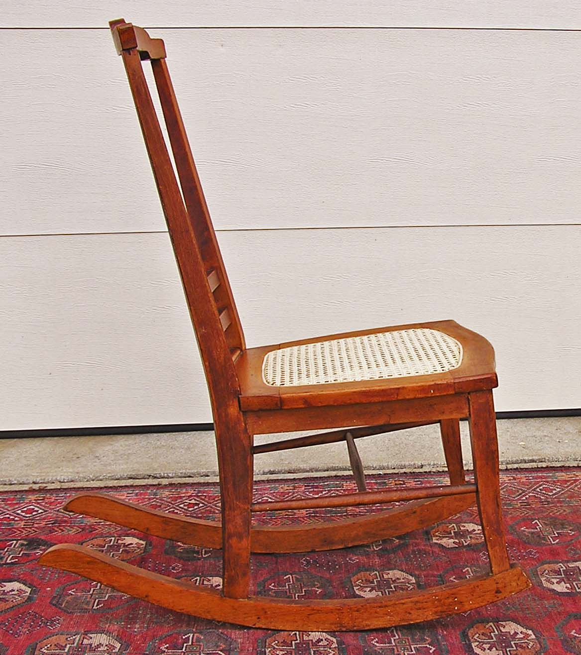 antique rocking chairs for sale bonded leather chair t back birds eye maple c 1900 1915