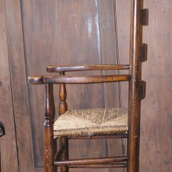 Antique Ladder Back Chairs Value Living Room Walmart Massachusetts Shaker Style Rush Seated Arm