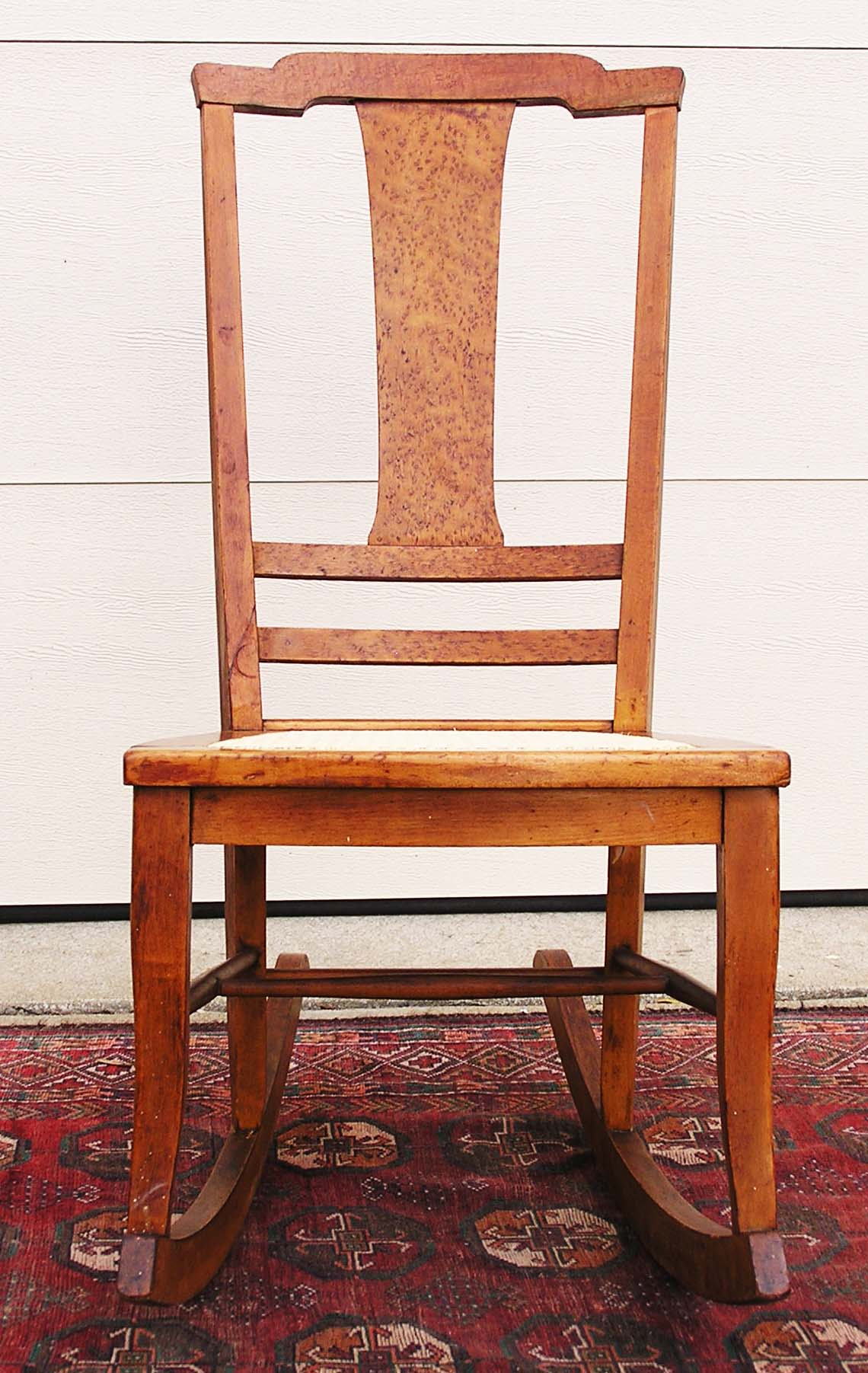 maple rocking chair posture control t back birds eye c 1900 1915 for