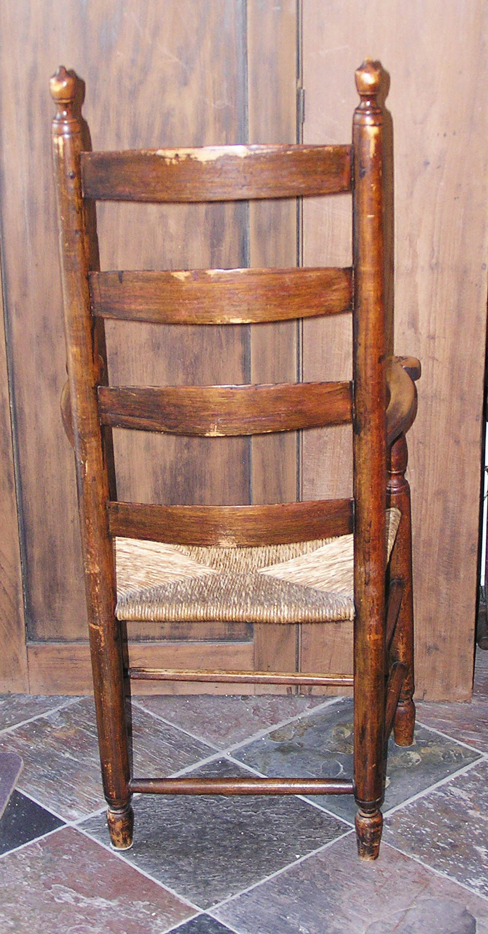 harvard chair for sale bedroom pictures massachusetts shaker style ladder back rush seated arm circa this was found in an old house lancaster ma there a colony directly to the east of and another