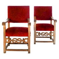 Pair of Celtic Inspired Throne Chairs For Sale | Antiques ...