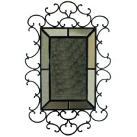 Large Wrought Iron Mirror For Sale | Antiques.com ...