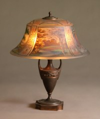 A Beautiful PairPoint 4 seasons Reverse Painted Lamp For ...