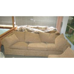 Four Seat Sofa With Chaise Tuscan Sofas Large Down Filled 4-piece Sectional For Sale ...