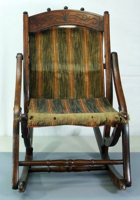 antique child rocking chair wedding cover hire telford victorian walnut childs for sale | antiques.com classifieds