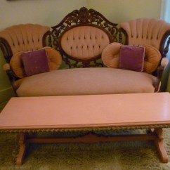 Sofa Rose Wood Cottage Style Furniture A Carved Rosewood With Looping Design And Coffee
