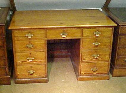 Medium Desk A pine desk 0644 For Sale  Antiquescom