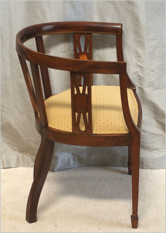 antique mahogany office chair pool towel covers inlaid desk ref 9005 for sale antiques com